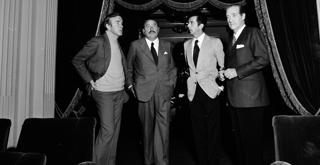 72 8287PIN con Franco Zeffirelli, Masimo Bogianckino e Tito Varisco nel 1972 ph Erio Piccagliani