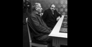 73 4498PIN con Paul Dessau nel 1973 per la Condanna di Lucullo ph Erio Piccagliani