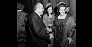 75 729PIN  con Viorica Cortez e Montserrat Caballe Norma 1975  ph Erio Piccagliani
