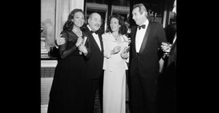 76 2709PIN ournee a Londra 1976 Anna Crespi Morbio Gioia Falck e Adolfo Sarti
