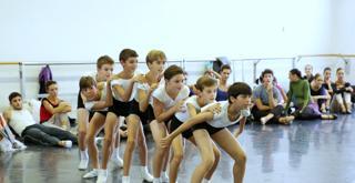 Bella   le prove in sala con gli allievi della scuola di ballo ph Brescia e Amisano Teatro alla ScalaK65A5454