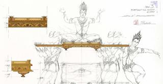 La bayadére    un disegno di Luisa Spinatelli
