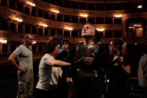 Il ritorno di Ulisse in patria backstage